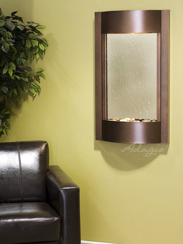 Wall fountain - Serene Waters - Silver Mirror - Copper Vein - swa5040