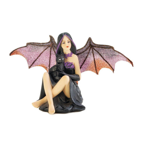 Bat Fairy Cat Figurine