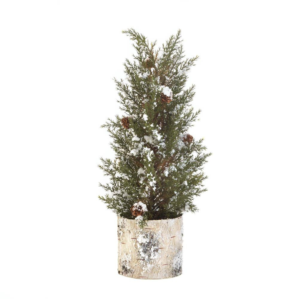 Birch Tree Pine Sprig Topiary