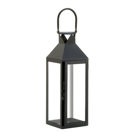 Black Manhattan Candle Lantern