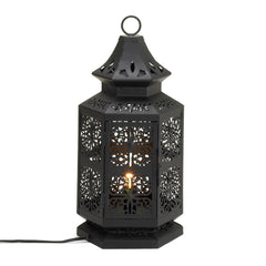Black Moroccan Tower Lamp