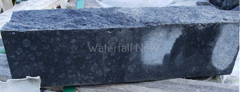 "Black Diamond Basalt Splitface Cladding Capstone - 3.937"" x 12"" x 2.953"""