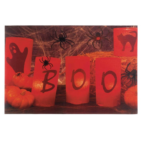 Boo Halloween LED Wall Art