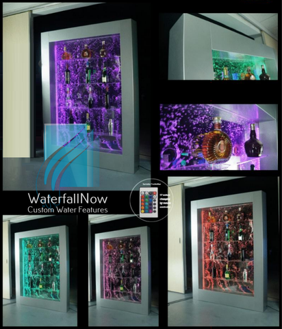 LED Bubble Wall - Display Rack - Bar - Stainless Steel Framed - bwfss1615