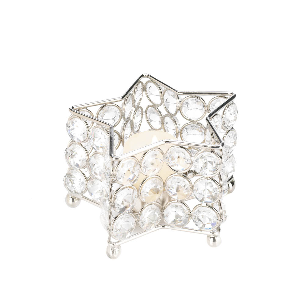 Crystal Star Candle Holder