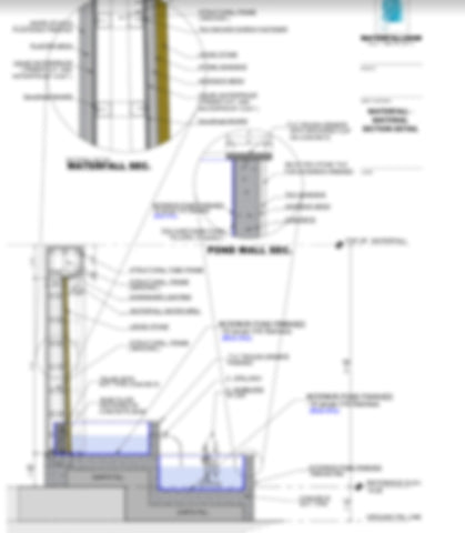 Custom Water Feature Shop Detail Drawings & Engineering