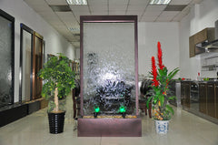 6.5 Foot Floor Fountain Dark Copper Trim Clear Tempered Glass - DCCG78FF