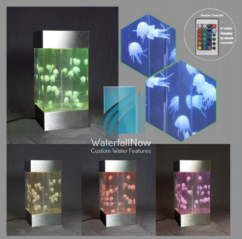 tabletop artificial glowing jellyfish aquarium