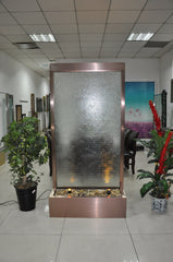 6.5 Foot Floor Fountain Brushed Copper Ripple Glass - BCRG78FF