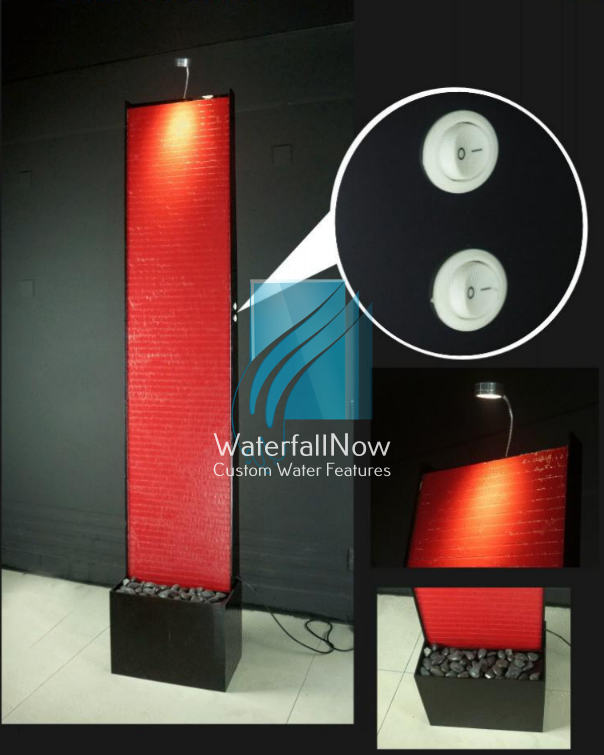 Free Standing Acrylic Water Wall - Custom Colour Options - wwfsa1805b