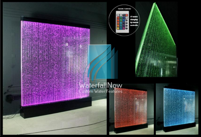 Free Standing RGB LED Bubble Wall Panels - Partition Dividers - bwfs1721b
