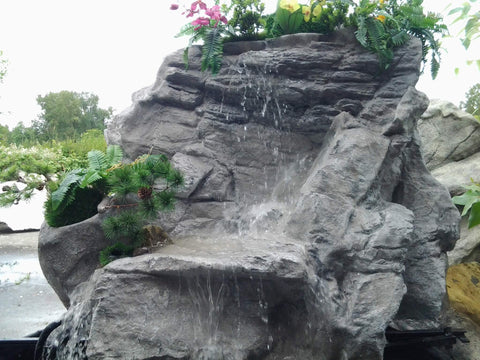 Artificial Rock Waterfall Pondless Yard Rock Fountain #crw00053