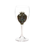Green Dragon Glass Goblet