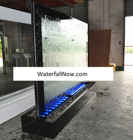 "79"" x 79"" Double Sided Partition Glass Water Wall - BTCG305FF-X"