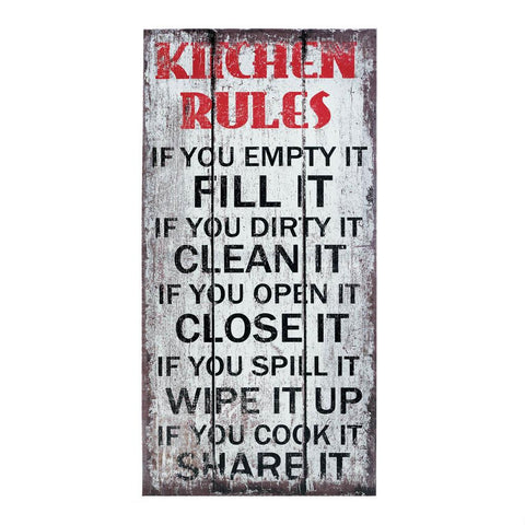 Kitchen Rules Wall Art