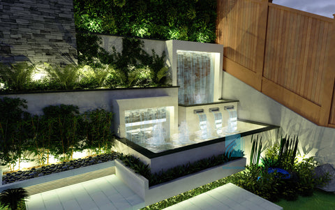 Custom Water Feature Concept Design & Rendering