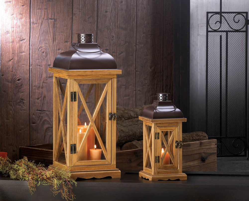 Large Hayloft Wooden Candle Lantern