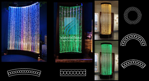 led bubble column wall free standing150x25x200  80x23x200 cbwc1604c