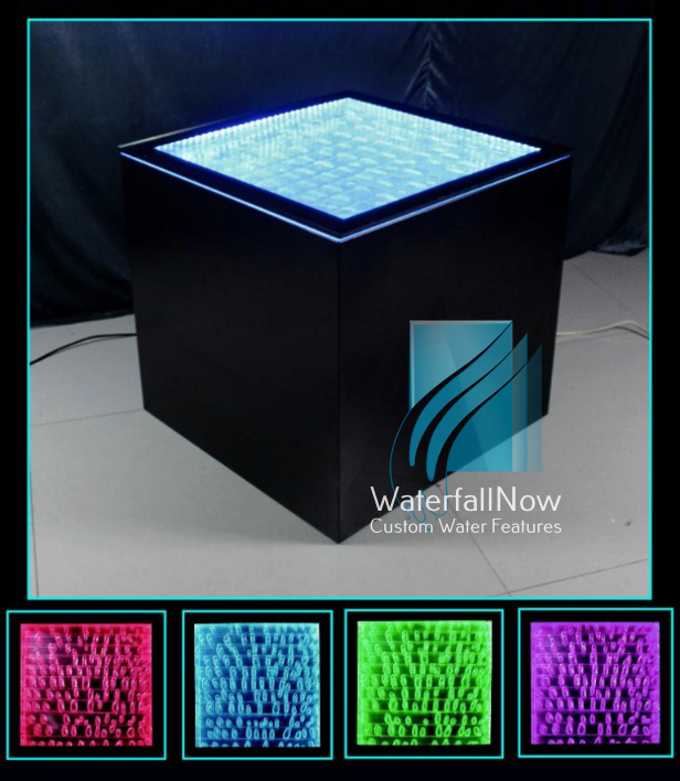 LED Buble Panel Cube - Coffee Table Or Platform - bwc955b