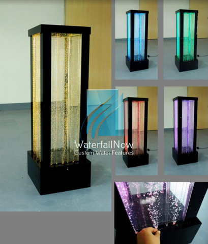 Free Standing LED Bubble Wall - Rectangle Column - 4 Sided - rcbp1705b