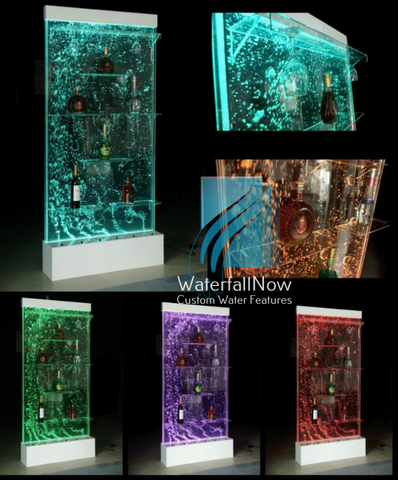 LED Bubble Wall Drink Display Bar - dsbwr720w
