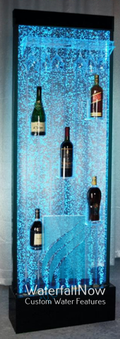 LED Wine Bar Bubble Wall - Black Acrylic Frame - rbwds901a