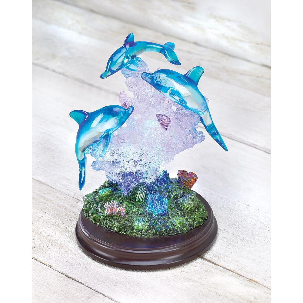 Lighted Dolphin Sculpture