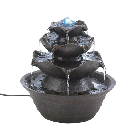 Lotus Bloom Tabletop Water Fountain