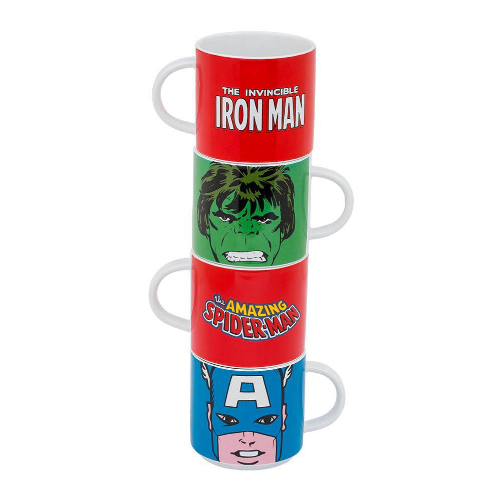 Marvel Stacking Mugs 4 Pc. Set