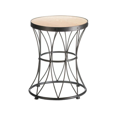 Metal Frame Accent Stool