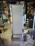 Mirror Frame - Frosted Glass Free Standing Water Wall 6ft tall x 2 ft wide