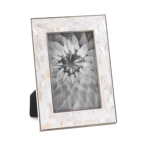 "Mother Of Pearl Mosaic Frame 4"" X 6"""