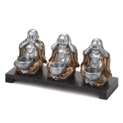 No Evil Buddha Candle Stand