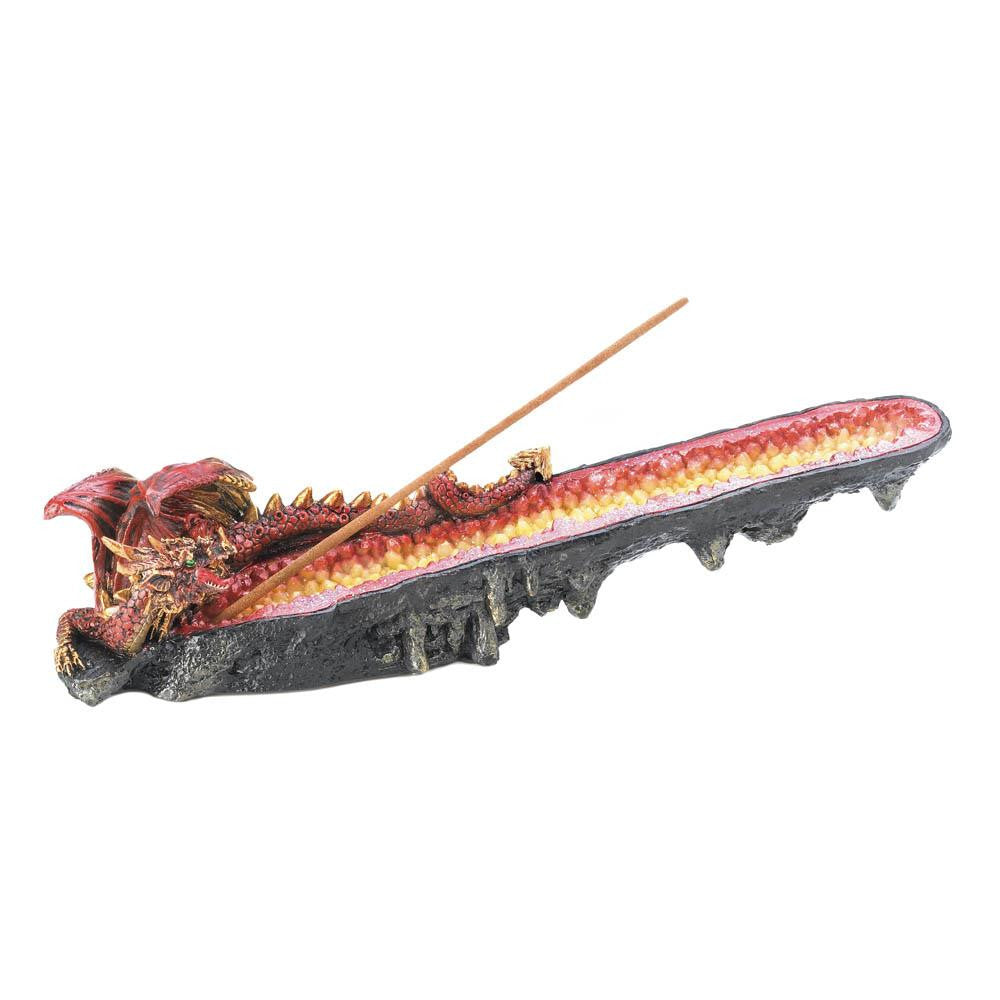 Orange Dragon Cystal Incense Burner