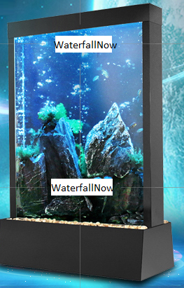 Fish Tank Water Wall Aquarium - RGB LED - Free-Standing - Double Sided