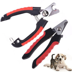 Sturdy & Sharp Nail Clipper - For Dogs, Cats, Rabbits & Similar Pets - Professional Stainless Steel - Safety Lock & Guard - Lifetime Warranty - Small & Medium