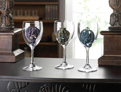Purple Dragon Glass Goblet