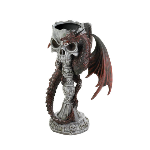 Red Dragon Candle Holder