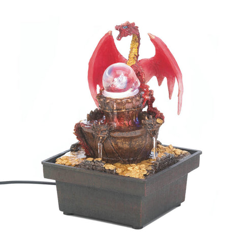 Red Dragon Tabletop Fountain