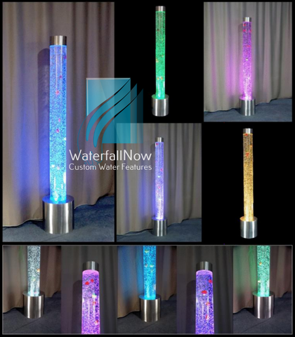 Sensory LED Bubble Columns - Color Changing Remotes - sbc180c