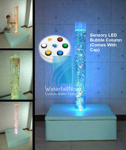 Sensory LED Bubble Column Pillar - Platform - cbw207c
