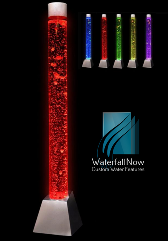Sensory LED Bubble Pillar - Colour Changing Remote - sbc180s