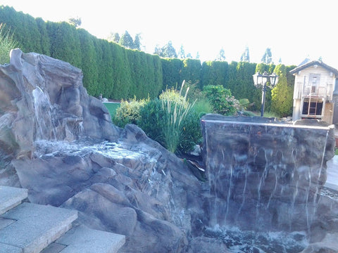 Artificial Rock Waterfall Spillway #crw00050