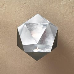 Silver Geometric Wall Sconce