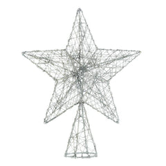 Silver Sparkle Star Tree Topper