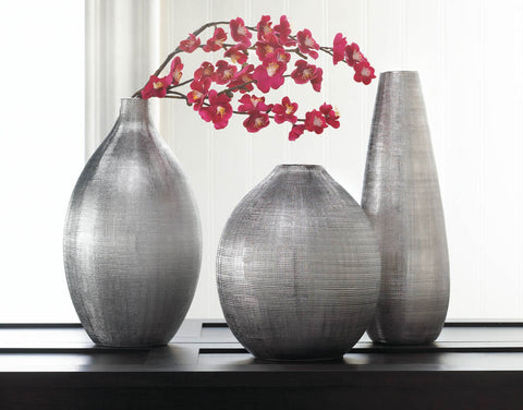 Silver Zeal Tall Vase