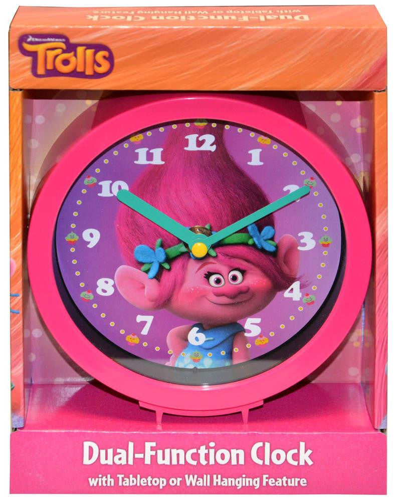 "Trolls 6"" Dual Function Clock"