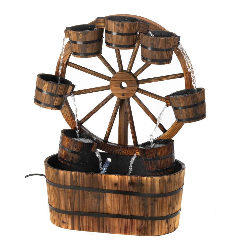 Wagon Wheel Fountain