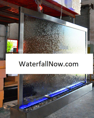 12 Foot Indoor Floor Partition Glass Water Wall - DTCG360FF-X