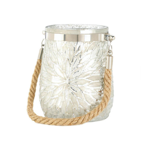 White Flower Candle Holder